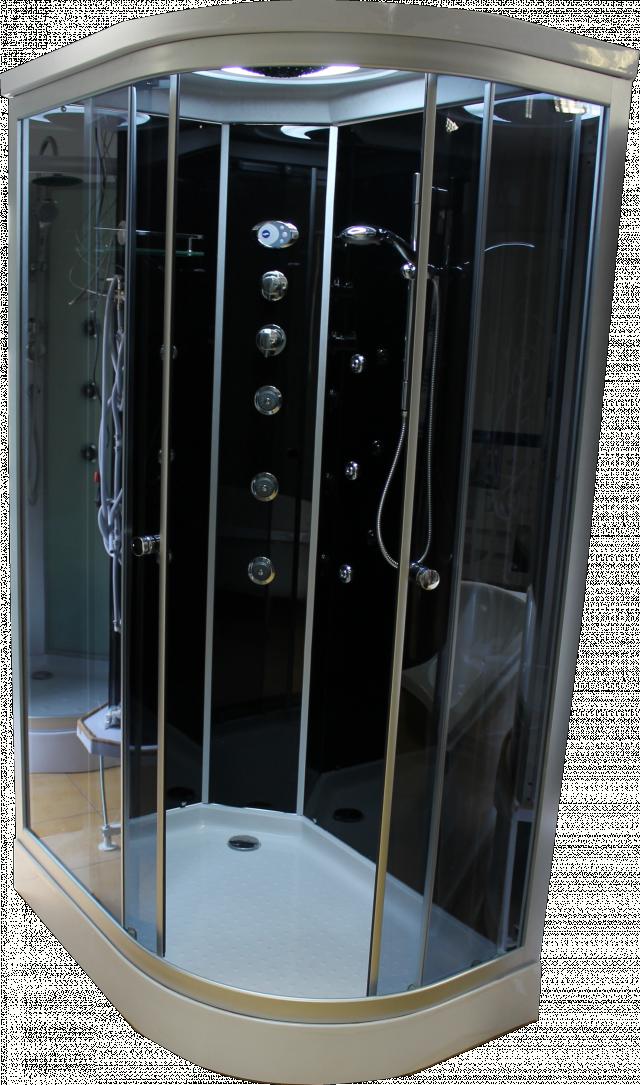 Aqualife Brill D8822 aszimmetrikus hidromasszázs zuhanykabin BALOS