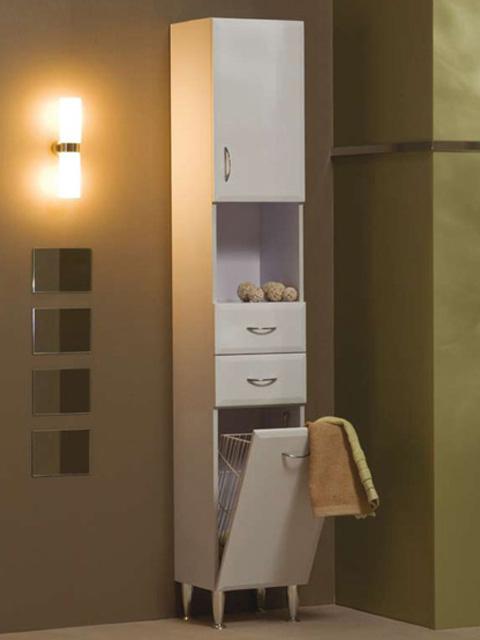 Bianka M33 szennyestartóval fürdőszobabútor, lábbal