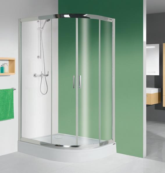 Sanplast kpl-L-KP4/TX5-90x120-S zuhanykabin tálcával
