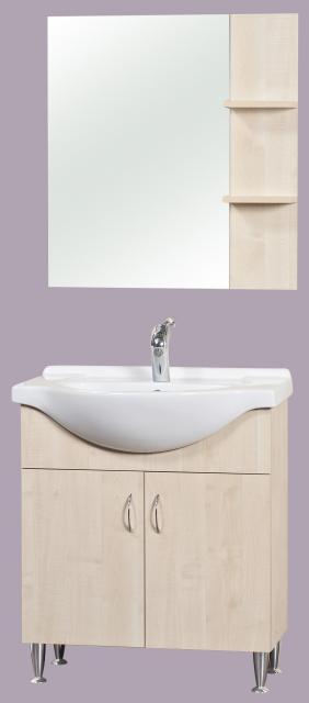 Róma 75 fürdőszoba szekrény, lábbal
