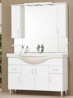 Bianka 120 fehér fürdőszobabútor, lábbal